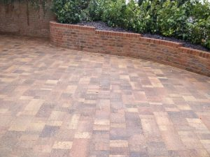 Tonbridge stock brick walling and block driveway